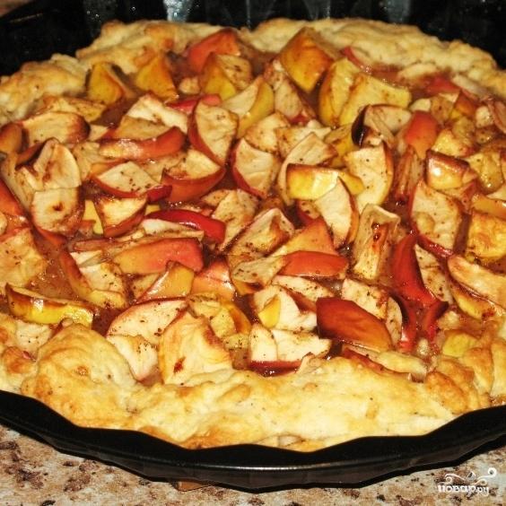 Постный пирог с яблоками - фото шаг 5