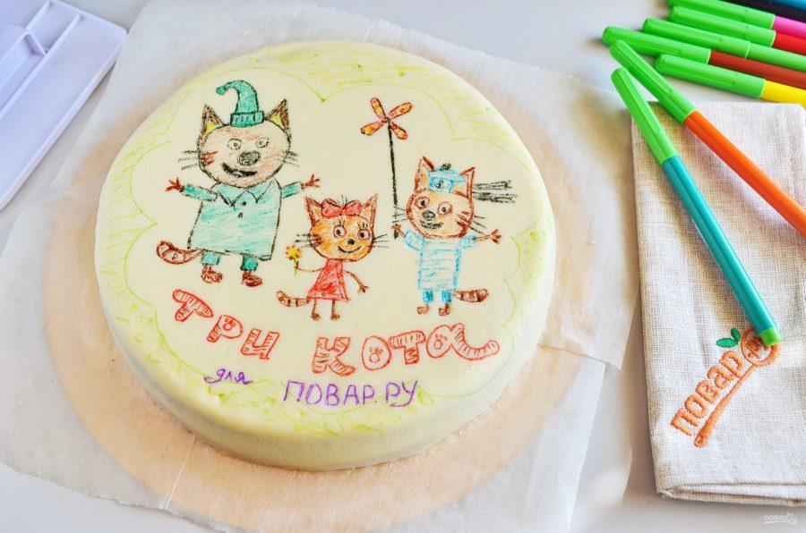"""Торт """"Три кота"""""""