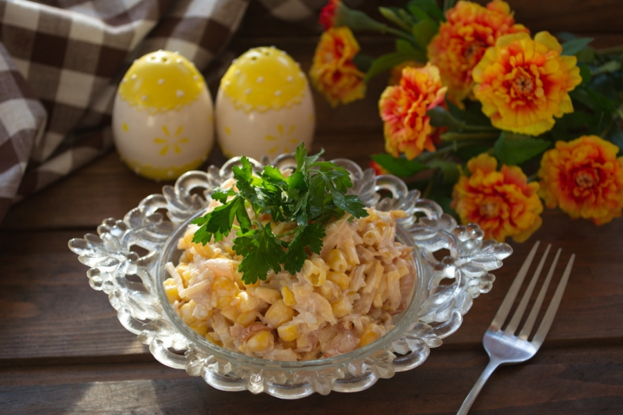 Салат с креветками и фото