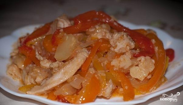 Курица по-пекински в кисло-сладком соусе