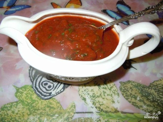 Томатный соус с кинзой - фото шаг 4