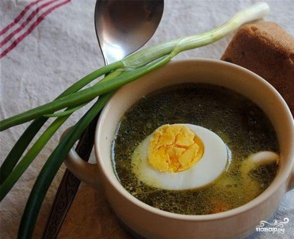 щавелевый суп рецепт классический с тушенкой