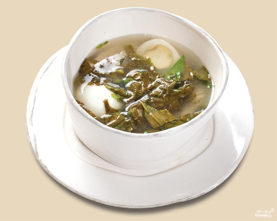 Рецепт Суп с щавелем и яйцом