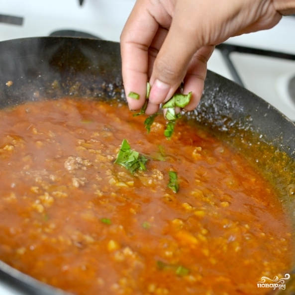 Соус с фаршем для спагетти - фото шаг 5
