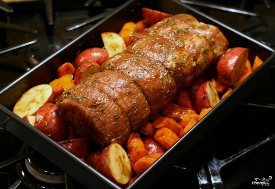 Балык из свинины в духовке - фото шаг 3