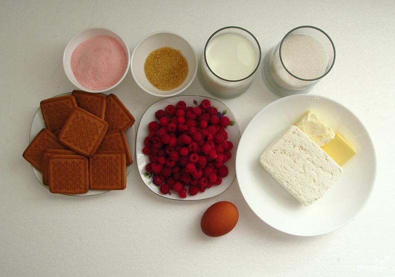 Творожно-малиновый торт - фото шаг 1