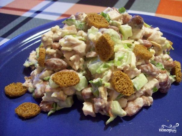 Рецепт Простой салат с фасолью