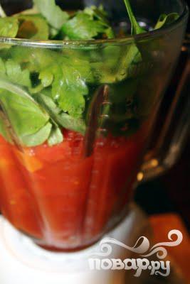 Томатно-клубничный гаспачо (холодный суп) - фото шаг 4