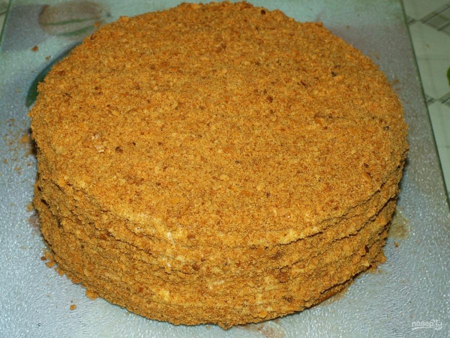 Торт медовый рецепт в домашних условиях со сгущенкой фото