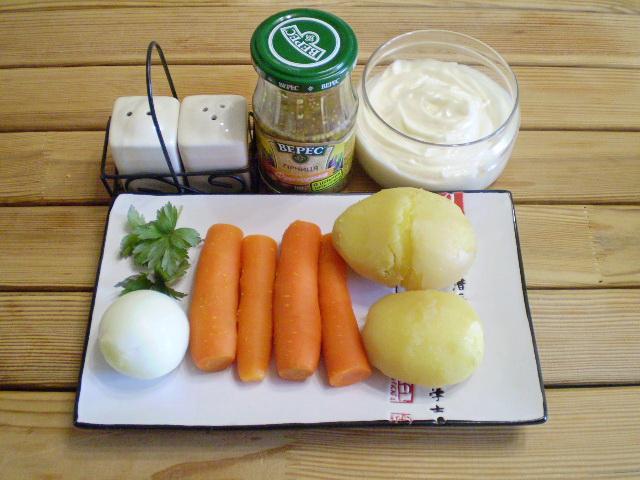 Рецепт Салат из моркови и картофеля