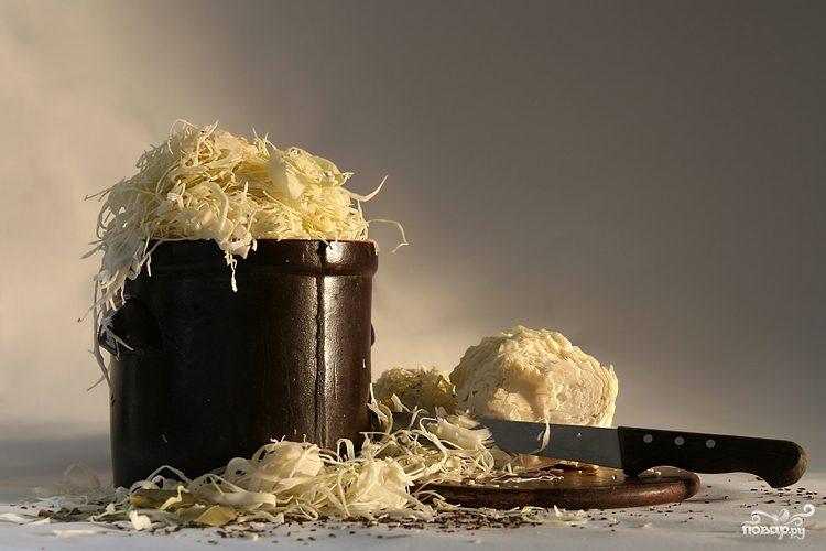 Рецепт Квашеная капуста в бочке