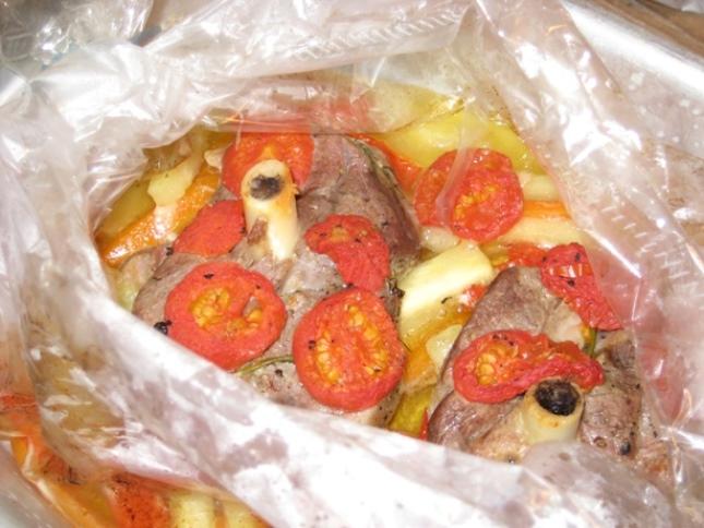 Баранина с овощами в рукаве   - фото шаг 6