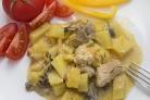 Индейка, тушенная с картофелем