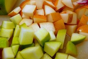 Салат из чечевицы с яблоком - фото шаг 3