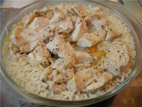 Курица с рисом в микроволновке - фото шаг 3