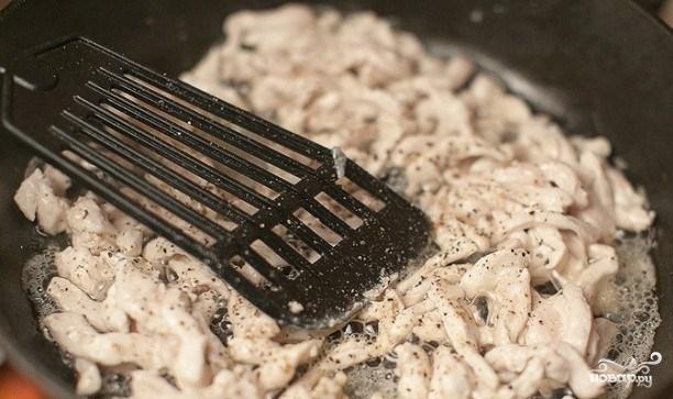 Макароны со сливками и грибами - фото шаг 3