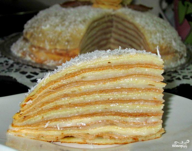 Блинный торт с медом