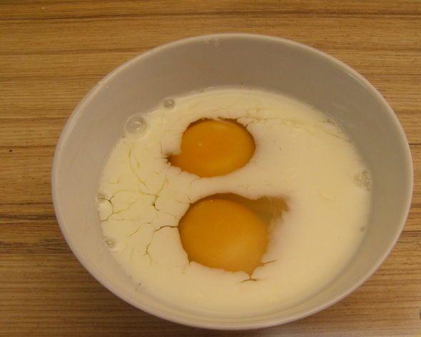 Рецепт Омлет с манкой и молоком