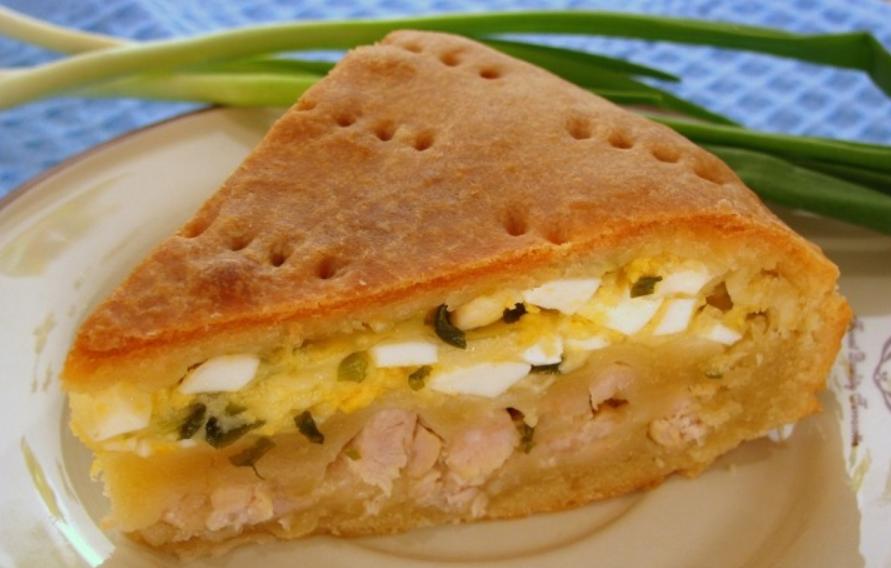 Пирог с луком и сыром - фото шаг 12