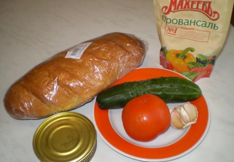 Рецепт Бутерброды с консервированной рыбой