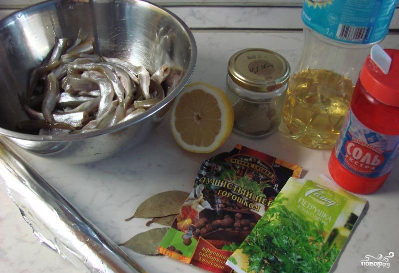 Корюшка в духовке - фото шаг 1