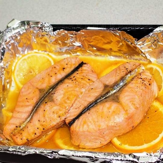 Семга под апельсиновым соусом - фото шаг 8