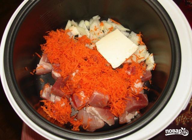 Суп со свининой в мультиварке Поларис - фото шаг 1