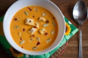 Вегетарианский суп-пюре из тыквы