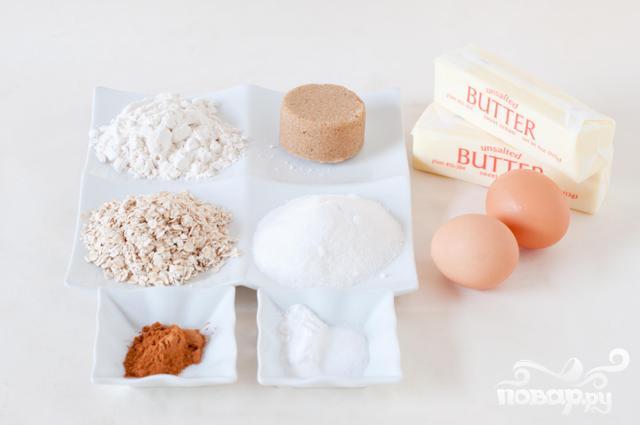 Овсяное печенье с зефирной начинкой - фото шаг 1