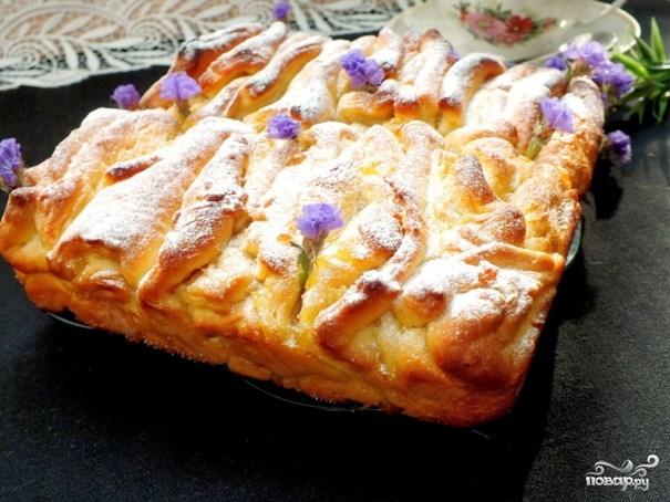 Дрожжевой пирог с повидлом - фото шаг 10