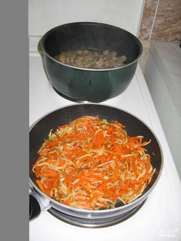 Куриные сердечки с луком и морковью рецепт пошагово в