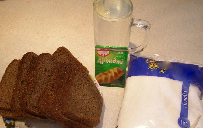 Рецепт Квас из черного хлеба