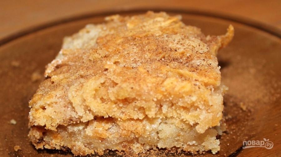 Яблочный пирог без яиц - фото шаг 5