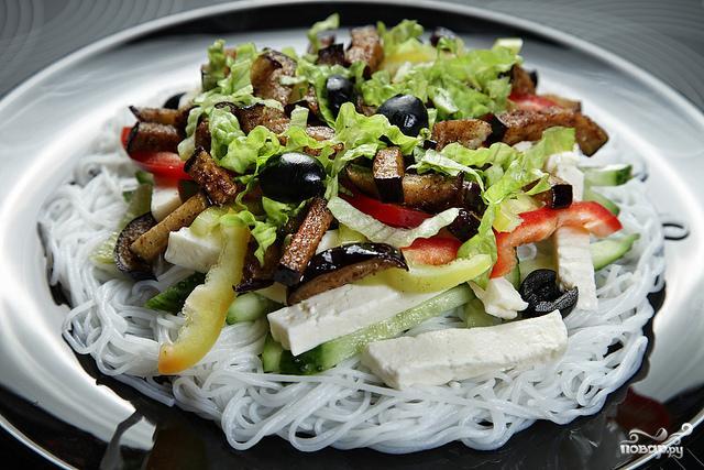 Салат из рисовой лапши с фото