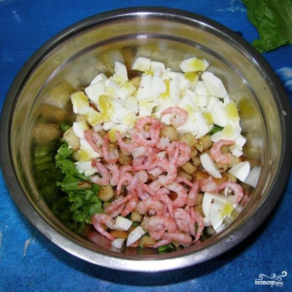 Салат с сухариками - фото шаг 9