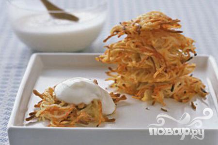 Рецепт Латкес из картофеля и моркови