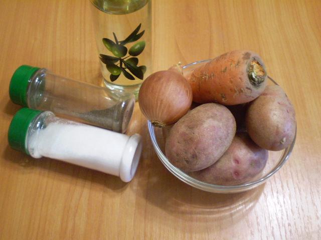 Рецепт Жареная картошка с морковкой