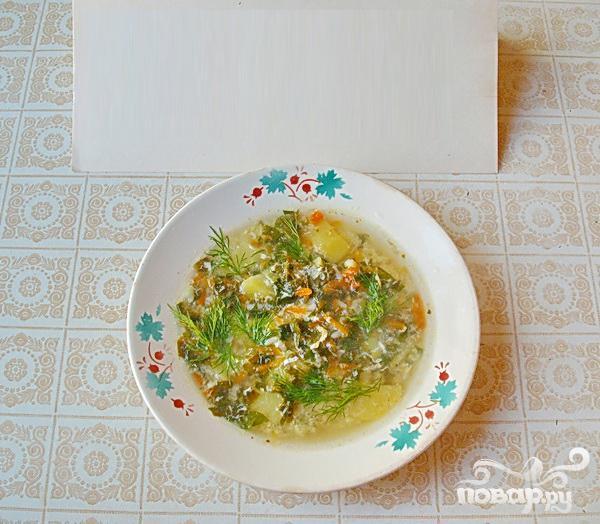 Весенний зеленый суп со щавелем - фото шаг 4
