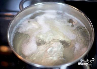 Рецепт Слоеный салат с курицей и грибами