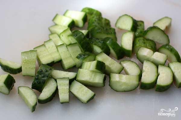 Рецепт Салат из яблок и огурцов