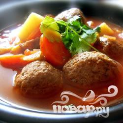 Рецепт Cуп с говяжьими фрикадельками