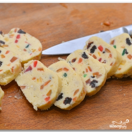 Рождественское печенье с цукатами и орехами - фото шаг 10