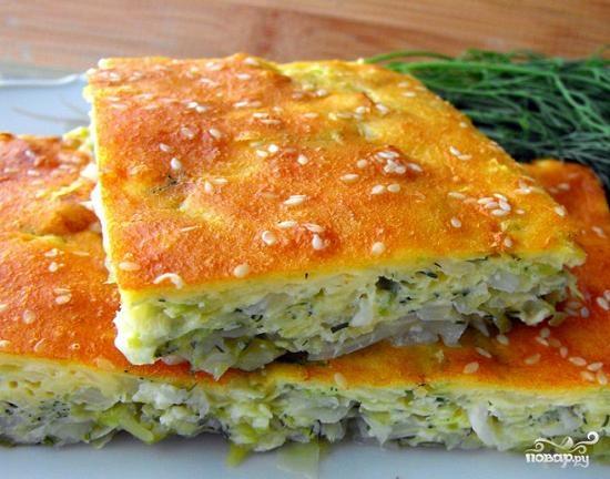 Рецепт Заливной пирог с капустой на кефире