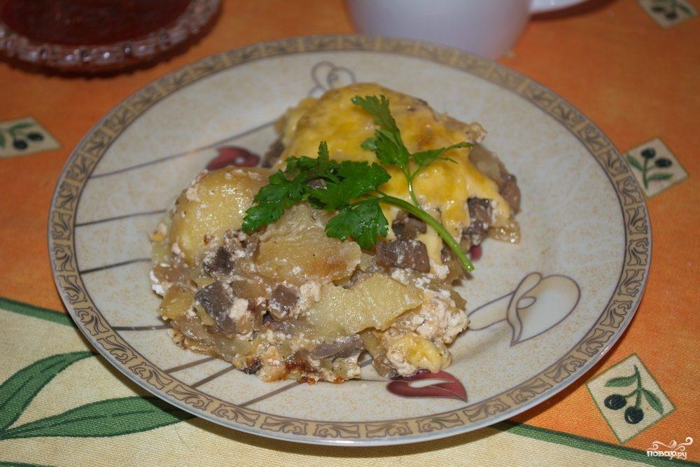 картошка с шампиньонами в духовке рецепты с фото