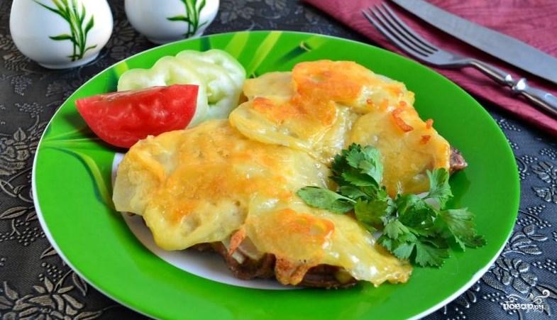Ромштекс из говядины с сыром