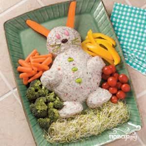 Рецепт Пасхальный Заяц из сыра
