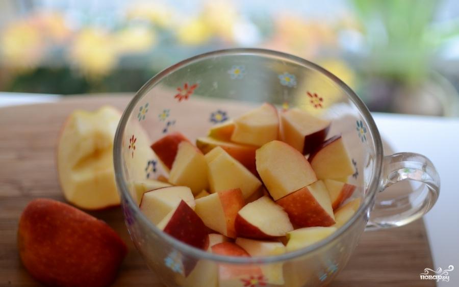 Яблоки с йогуртом - фото шаг 2