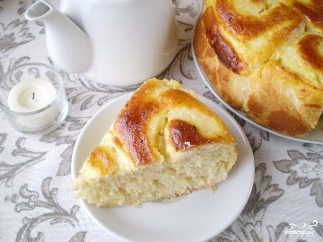 Пирог с творогом и манкой