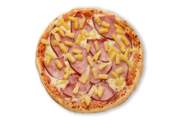 Рецепт Пицца с ананасами и ветчиной