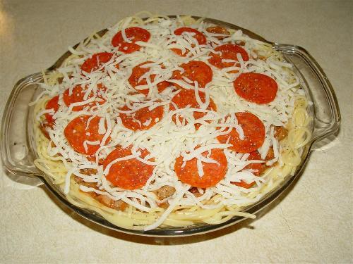 Пирог Спагетти  - фото шаг 5